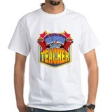 Super teacher Mens White T-shirts