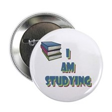 "I Am Studying 2.25"" Button"