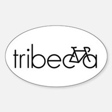 Bike Tribeca Sticker (Oval)