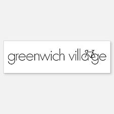 Bike Greenwich Village Sticker (Bumper)