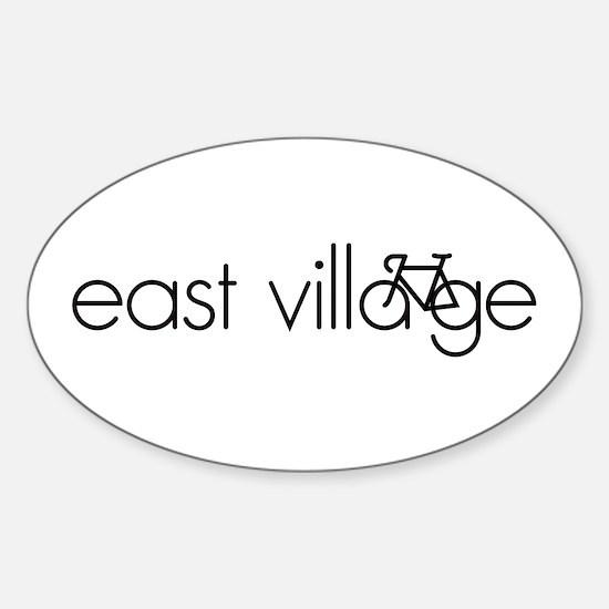 Bike the East Village Sticker (Oval)