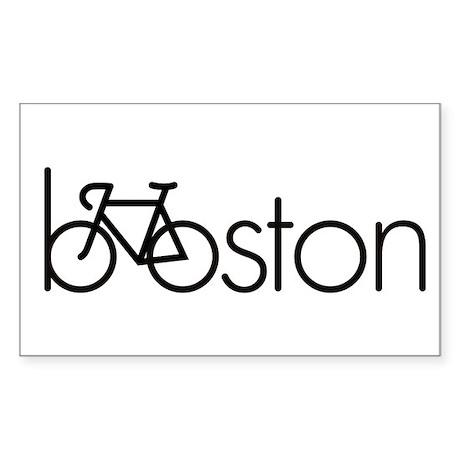 Bike Boston Sticker (Rectangle)
