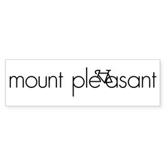 Bike Mount Pleasant Sticker (Bumper)