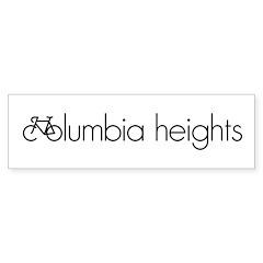 Bike Columbia Heights Sticker (Bumper)
