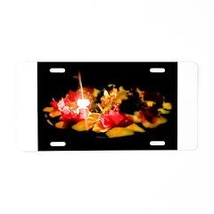 Illuminated Flowers Aluminum License Plate