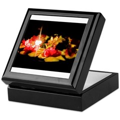 Illuminated Flowers Keepsake Box