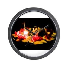 Illuminated Flowers Wall Clock