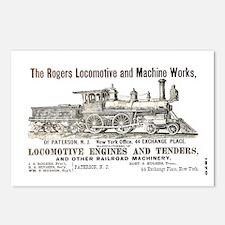 Rogers Locomotive Works 1870 Postcards (Package of