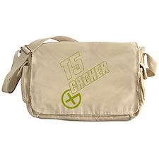 Geocaching T5 Cacher green Messenger Bag