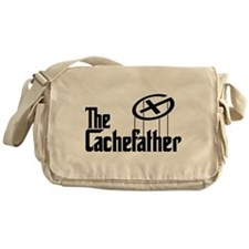 Geocaching THE CACHEFATHER bl Messenger Bag