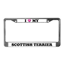 I Heart My Scottish Terrier License Plate Frame