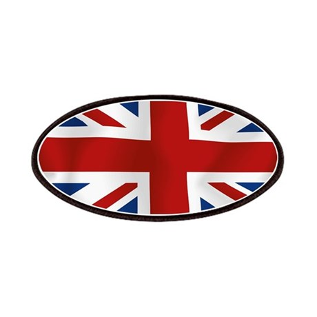 Union Jack flying flag Patches