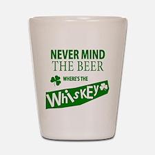 St Patricks Wheres the Whisky Shot Glass