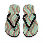 Ocean Psychadelic Flip Flops