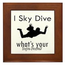 I Sky Dive Framed Tile
