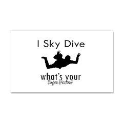 I Sky Dive Car Magnet 20 x 12