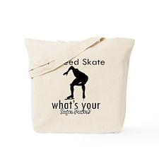 I Speed Skate Tote Bag