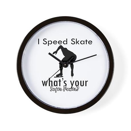 I Speed Skate Wall Clock