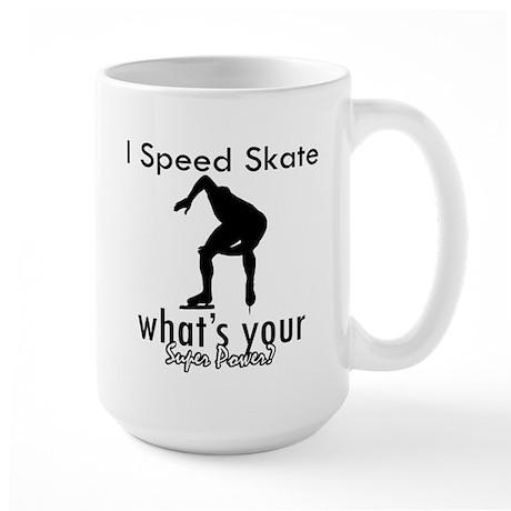 I Speed Skate Large Mug