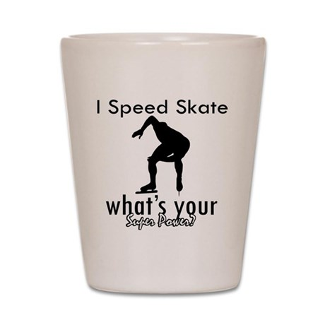 I Speed Skate Shot Glass