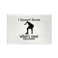 I Speed Skate Rectangle Magnet