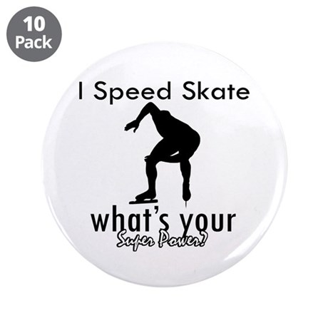 """I Speed Skate 3.5"""" Button (10 pack)"""