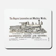 Rogers Locomotive Works 1870 Mousepad