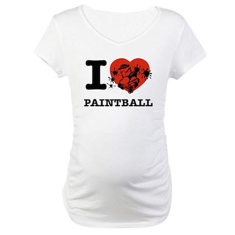 I love Paintball Maternity T-Shirt
