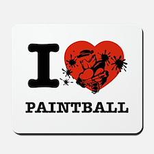 I love Paintball Mousepad