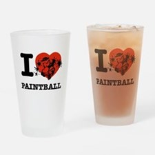 I love Paintball Drinking Glass