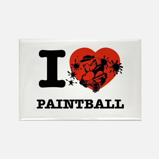 I love Paintball Rectangle Magnet