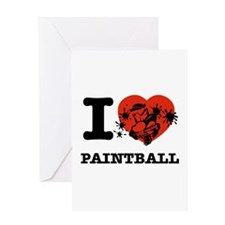 I love Paintball Greeting Card