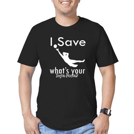 I Save Men's Fitted T-Shirt (dark)
