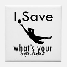 I Save Tile Coaster