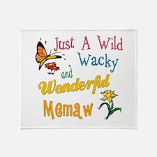 Wild Wacky Memaw Throw Blanket