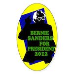 Sanders for President 2012 Oval Sticker