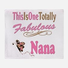 Totally Fabulous Nana Throw Blanket