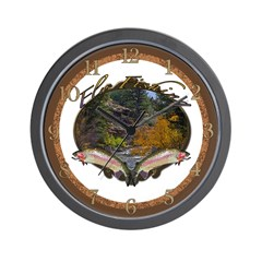 Fly Fishing 3 Wall Clock