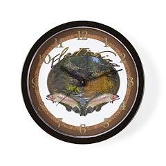 Fly Fishing 3 Wall Clock