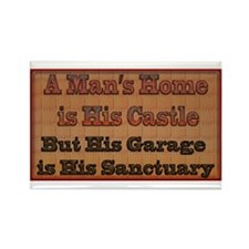 Cute Man cave rules Rectangle Magnet