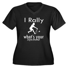 I Rally Women's Plus Size V-Neck Dark T-Shirt