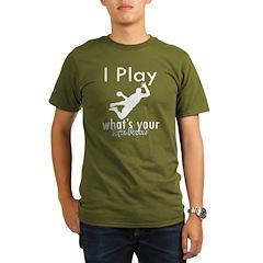 I Play Organic Men's T-Shirt (dark)