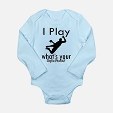 I Play Long Sleeve Infant Bodysuit