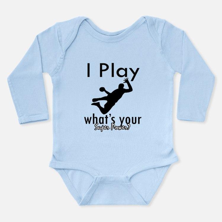 I Play Long Sleeve Infant Bodysuit