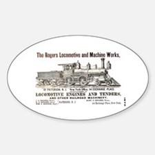 Rogers Locomotive Works 1870 Oval Decal