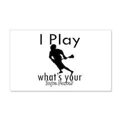 I Play 22x14 Wall Peel