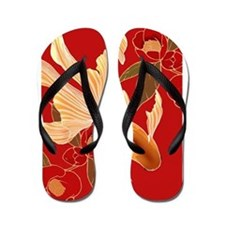 "Kimono Tradisional Design ""Goldfish"" Flip Flops"