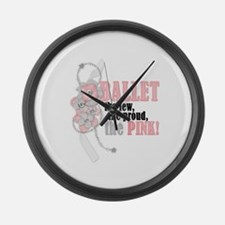 The Pink Large Wall Clock