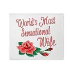 Sensational Wife Throw Blanket