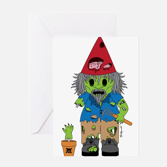 Zombie Gnome Greeting Card